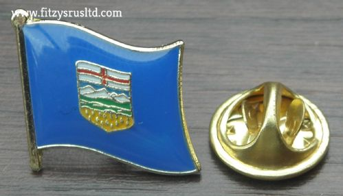 Alberta Country Flag Lapel Hat Cap Tie Pin Badge / Brooch - Brand New